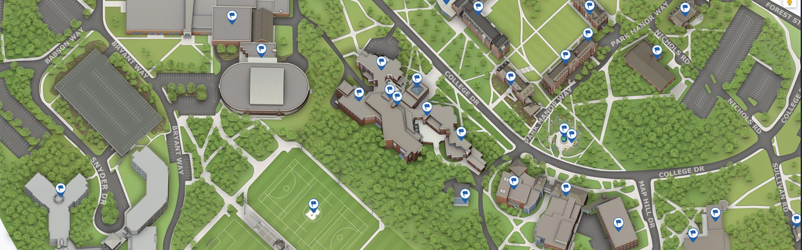 Babson Wellesley Campus Map