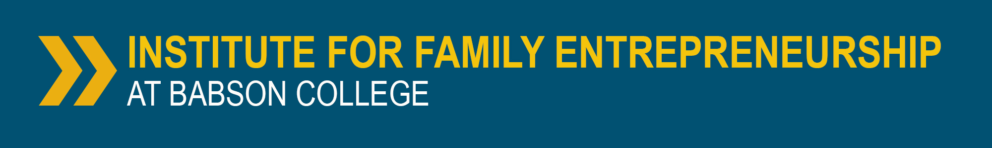 Institute for Family Entrepreneurship Header