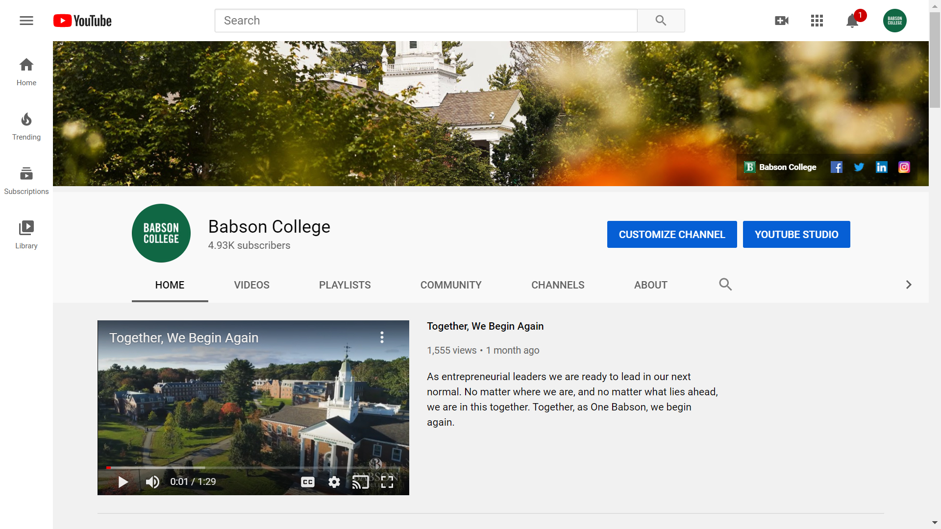 Babson College on YouTube