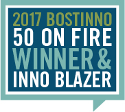 2017 BostInno 50 on Fire Winner & Inno Blazer
