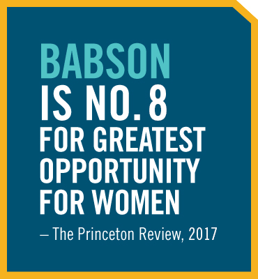Read Babson is Number 8 for Greatest Opportunity for Women