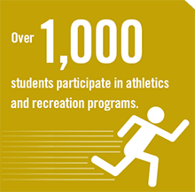 Over 1,000 Students Participate in Athletics and Recreation Programs